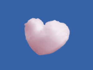 Love is in the Air inthe shape of a cloud